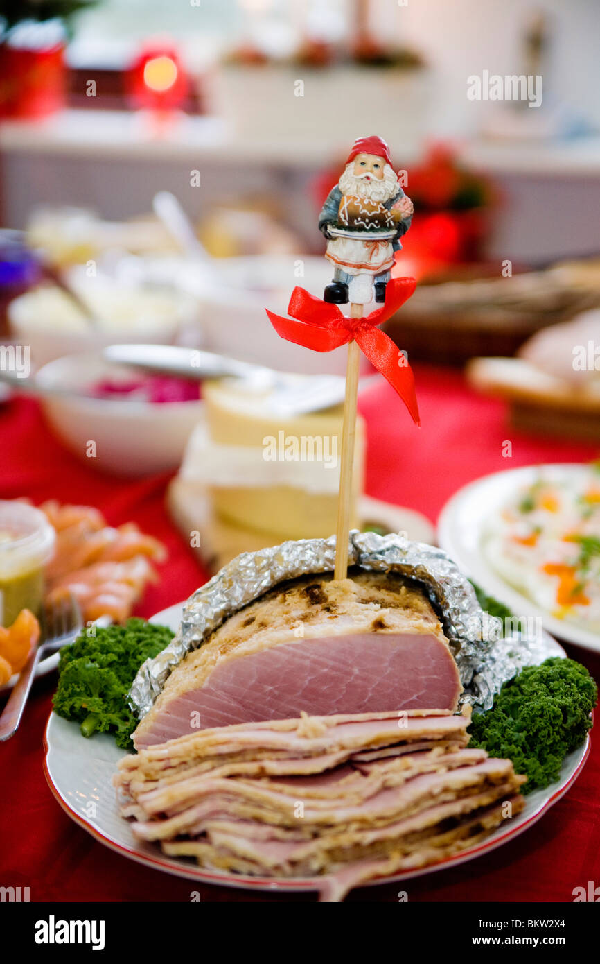 Santa Claus in christmas ham - Stock Image