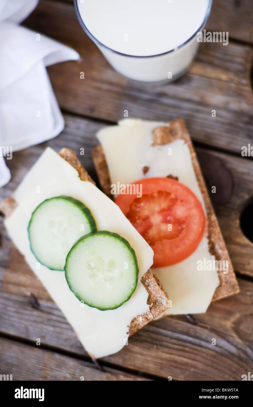 Crispbread from above - Stock Image