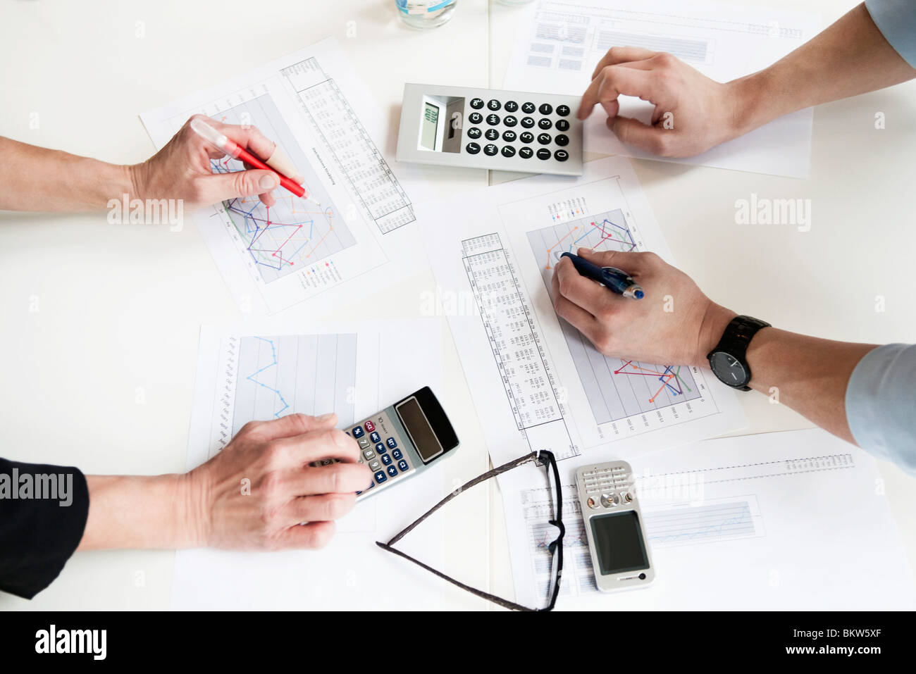 Overview graphs and diagrams - Stock Image