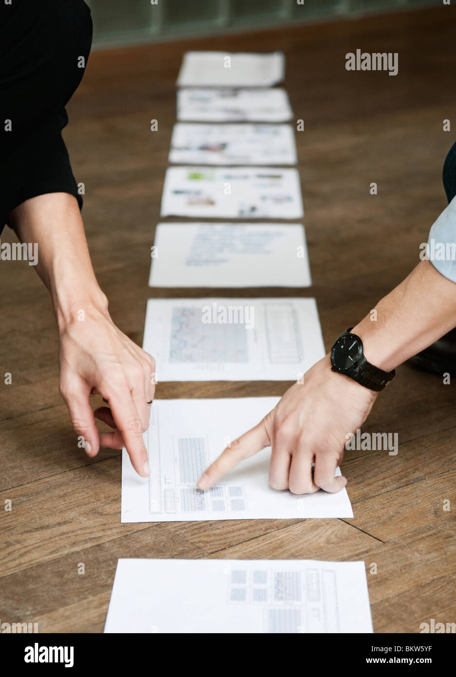 Line of documents - Stock Image