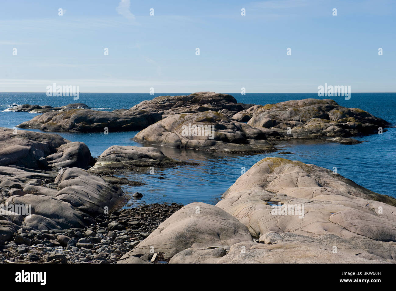 Rocks in the archipelago - Stock Image