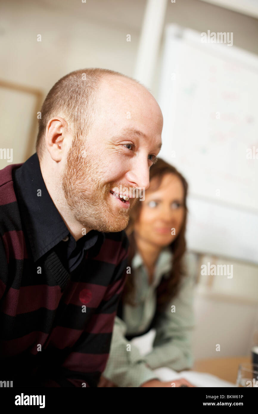 Two colleagues - Stock Image