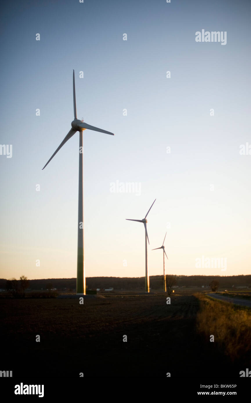 Wind power stations - Stock Image