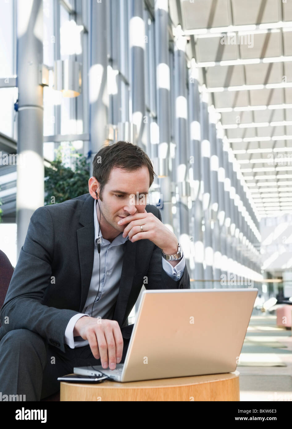 Concentrated businessman - Stock Image