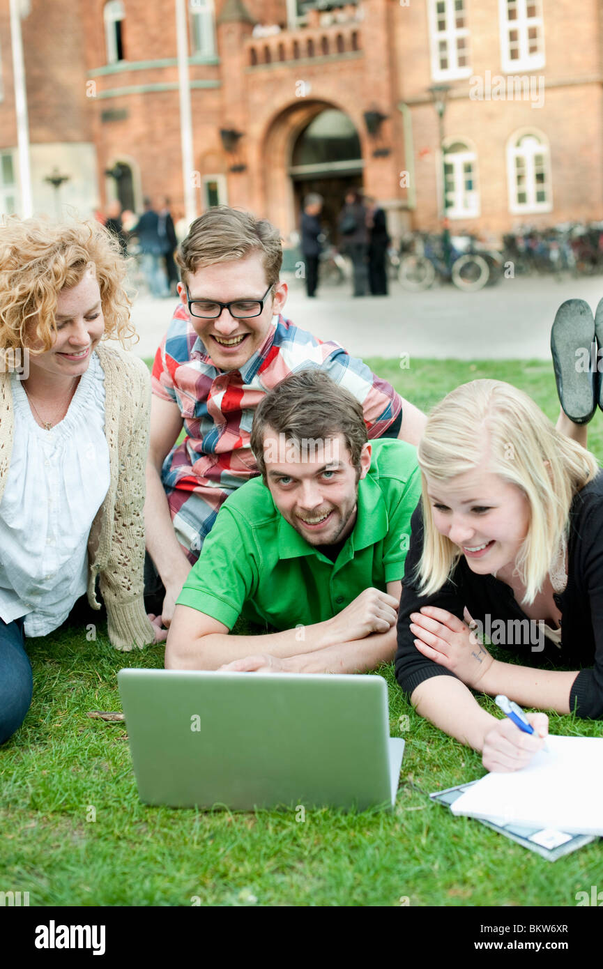 Closeup on students - Stock Image