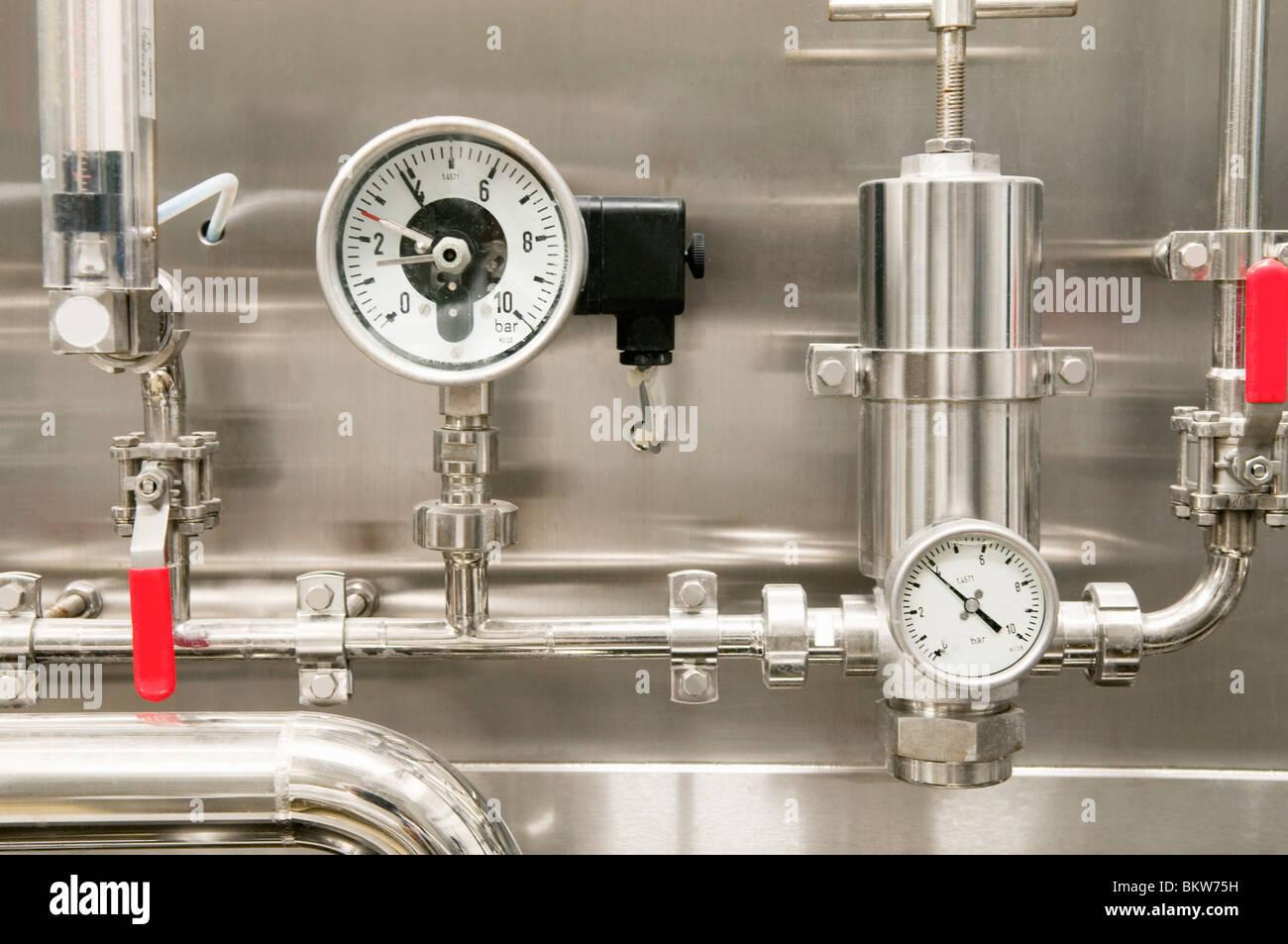Varied gauges - Stock Image