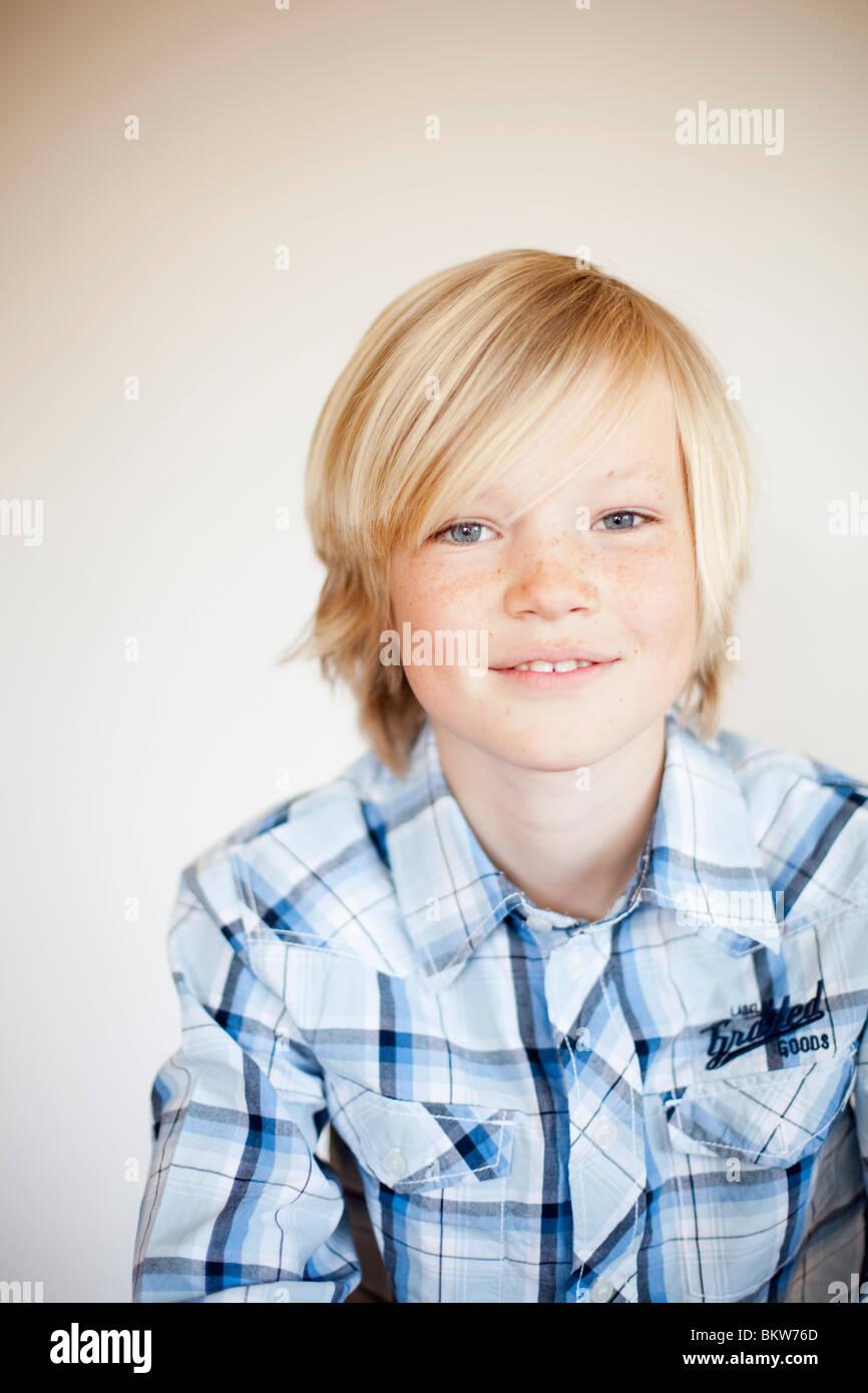 One boy - Stock Image