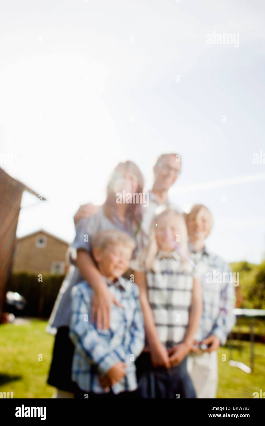 Blurry family - Stock Image