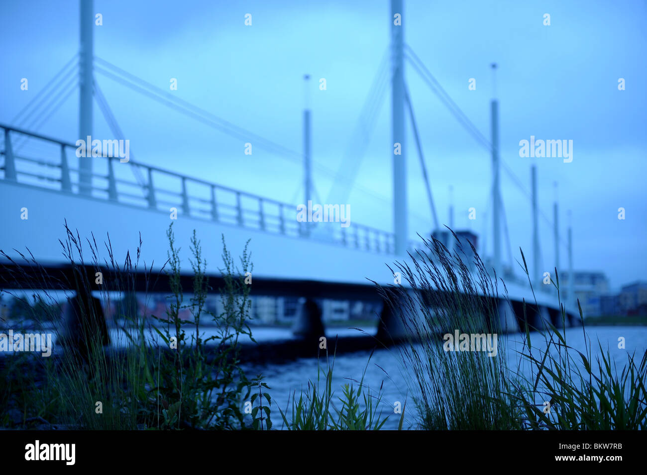 Mysterious bridge - Stock Image
