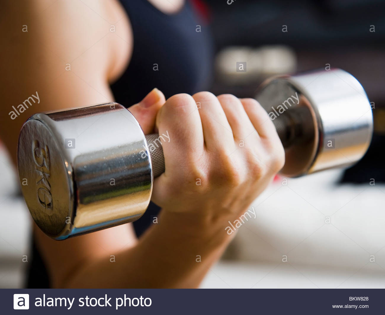 Work-out at gym - Stock Image