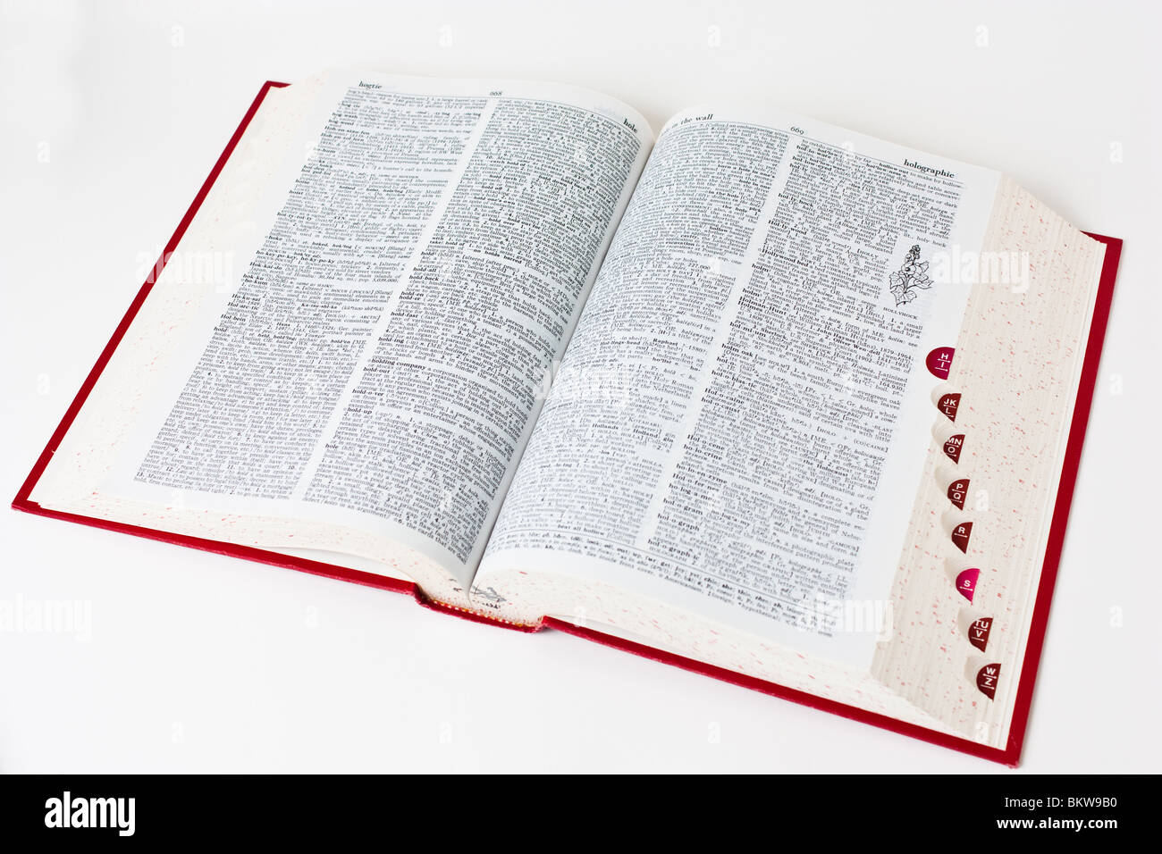dictionary definition book books reference cutout - Stock Image