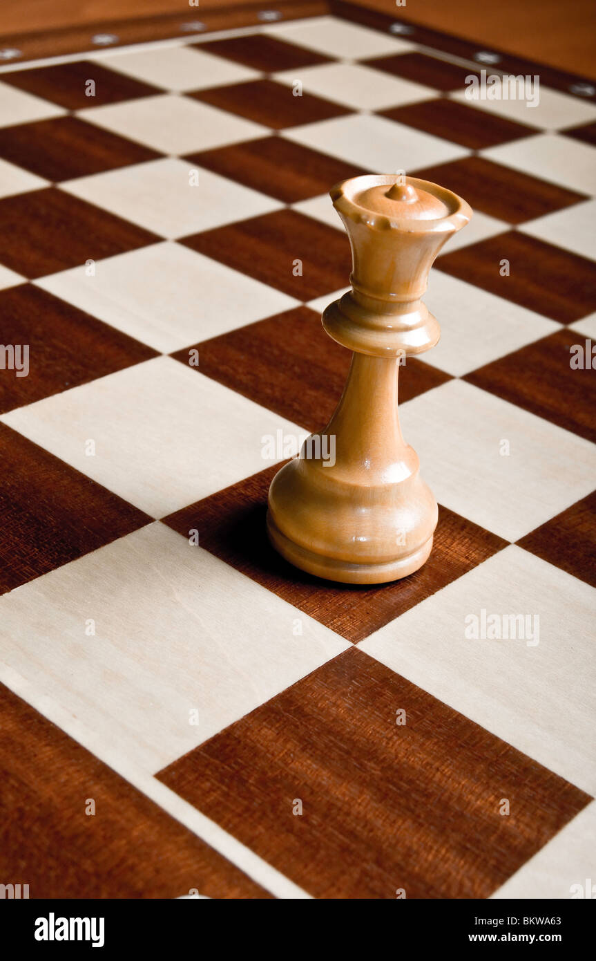 chess Queen piece - Stock Image