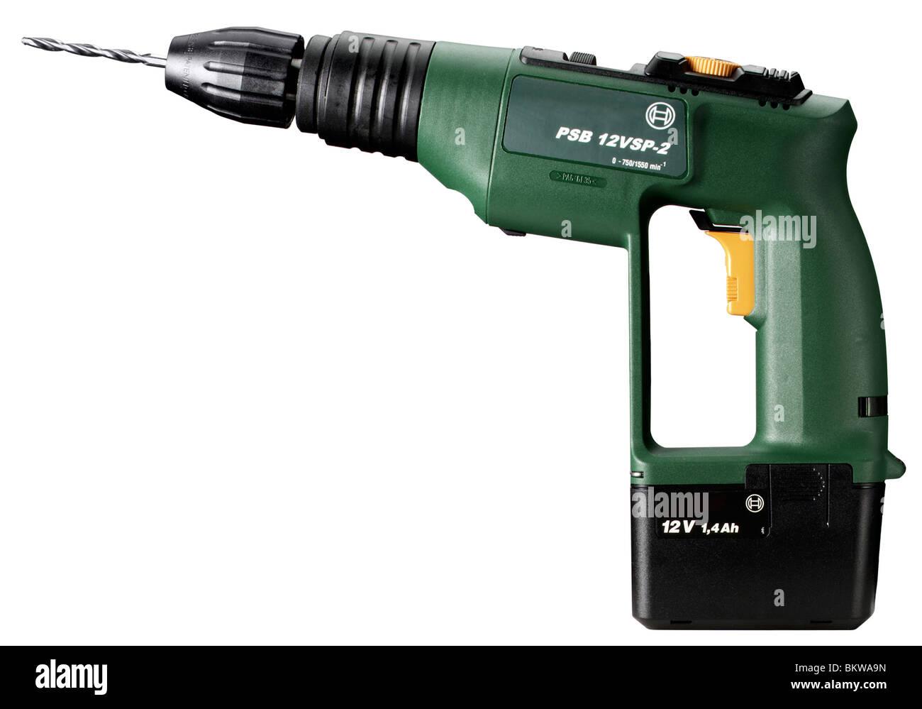 Cordless drill - Stock Image