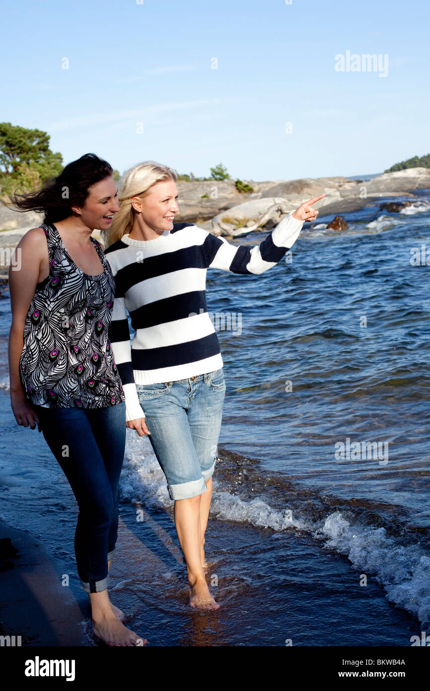Swedish beach - Stock Image