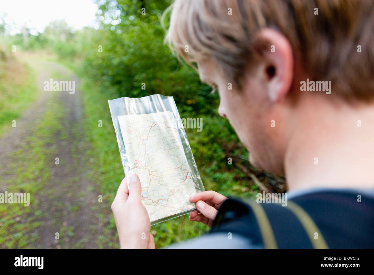 Look at map - Stock Image