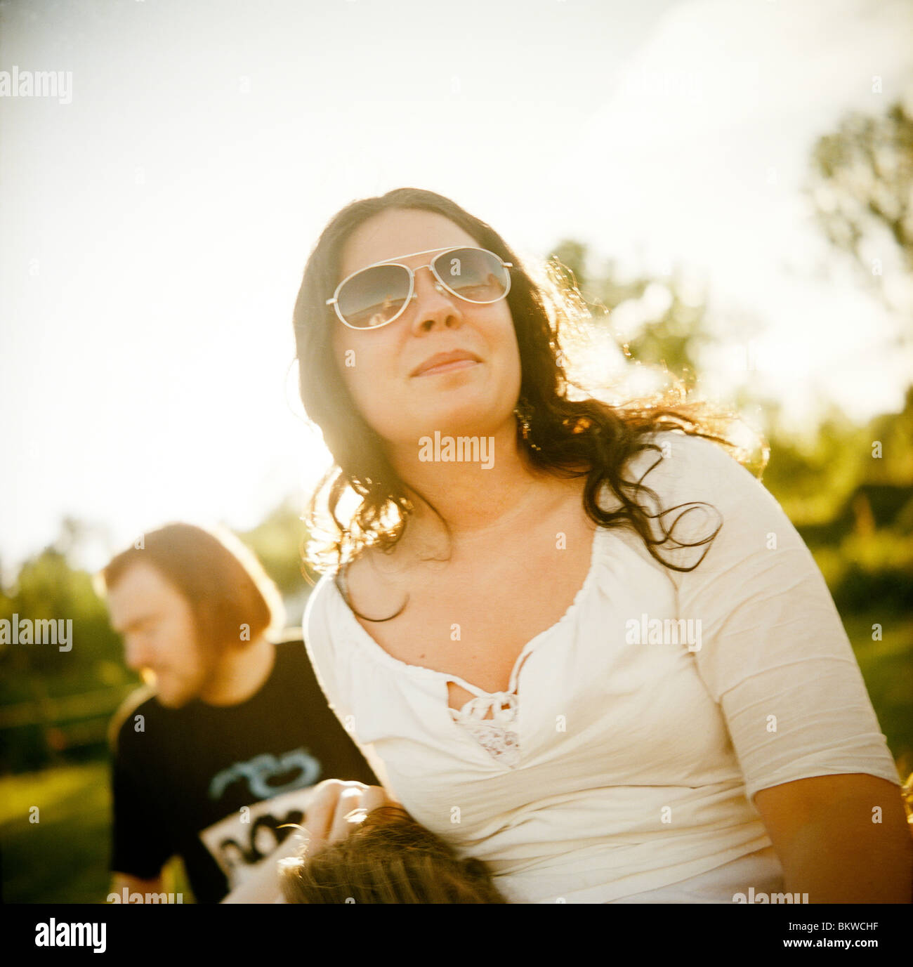 Youths in park - Stock Image
