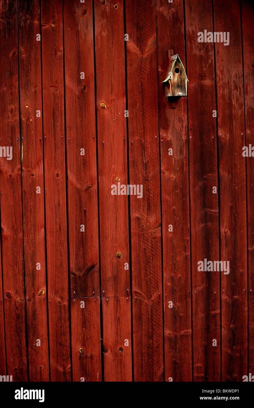Small nesting box at wall - Stock Image