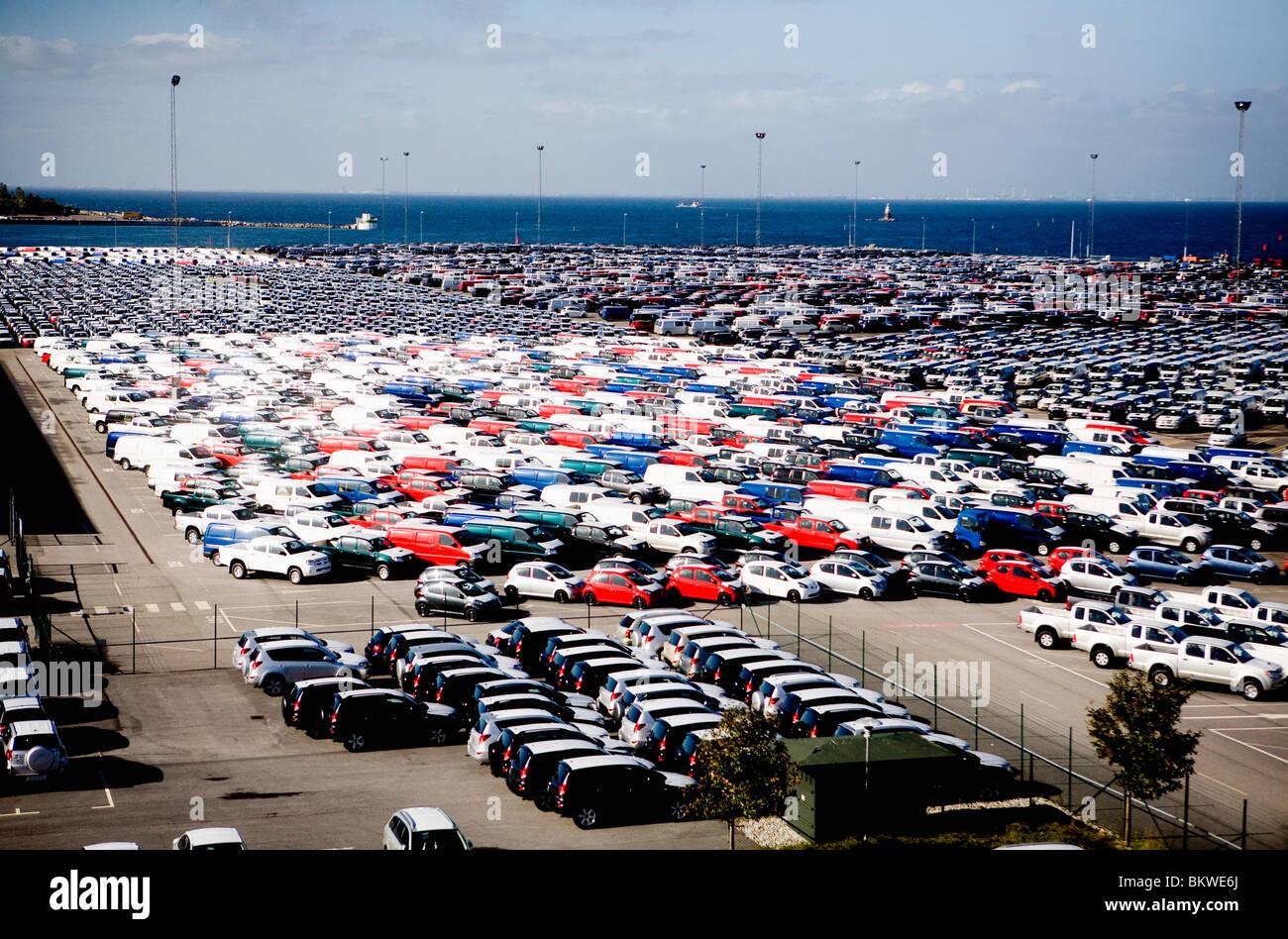 A enormous parking lot - Stock Image
