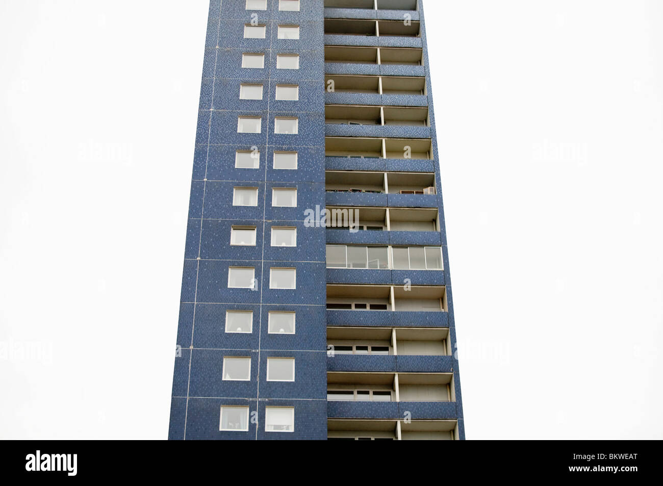 A lonely high-rise building - Stock Image