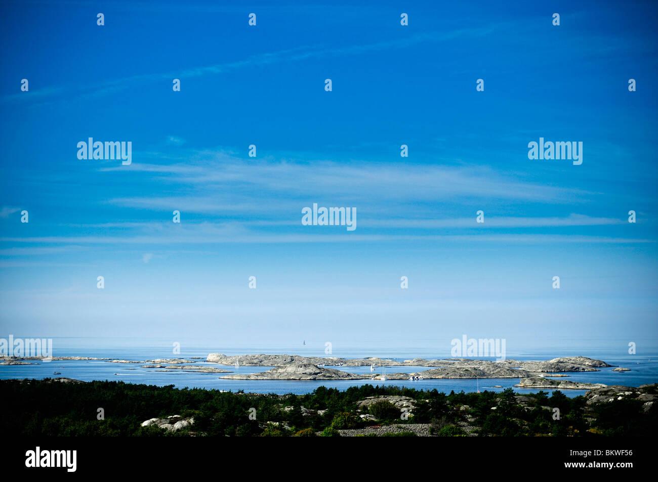 View over archipelago - Stock Image