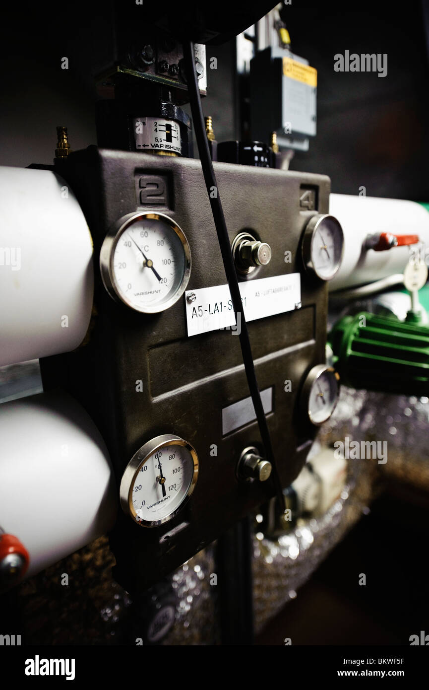 Cloeup on pressure gauge - Stock Image