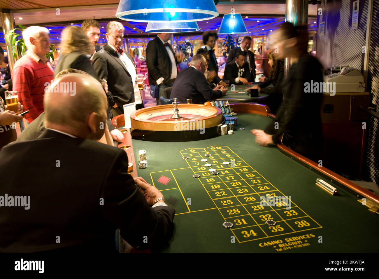Roulette Casino On Stena Line Ferry Harwich To Holland Stock Photo Alamy