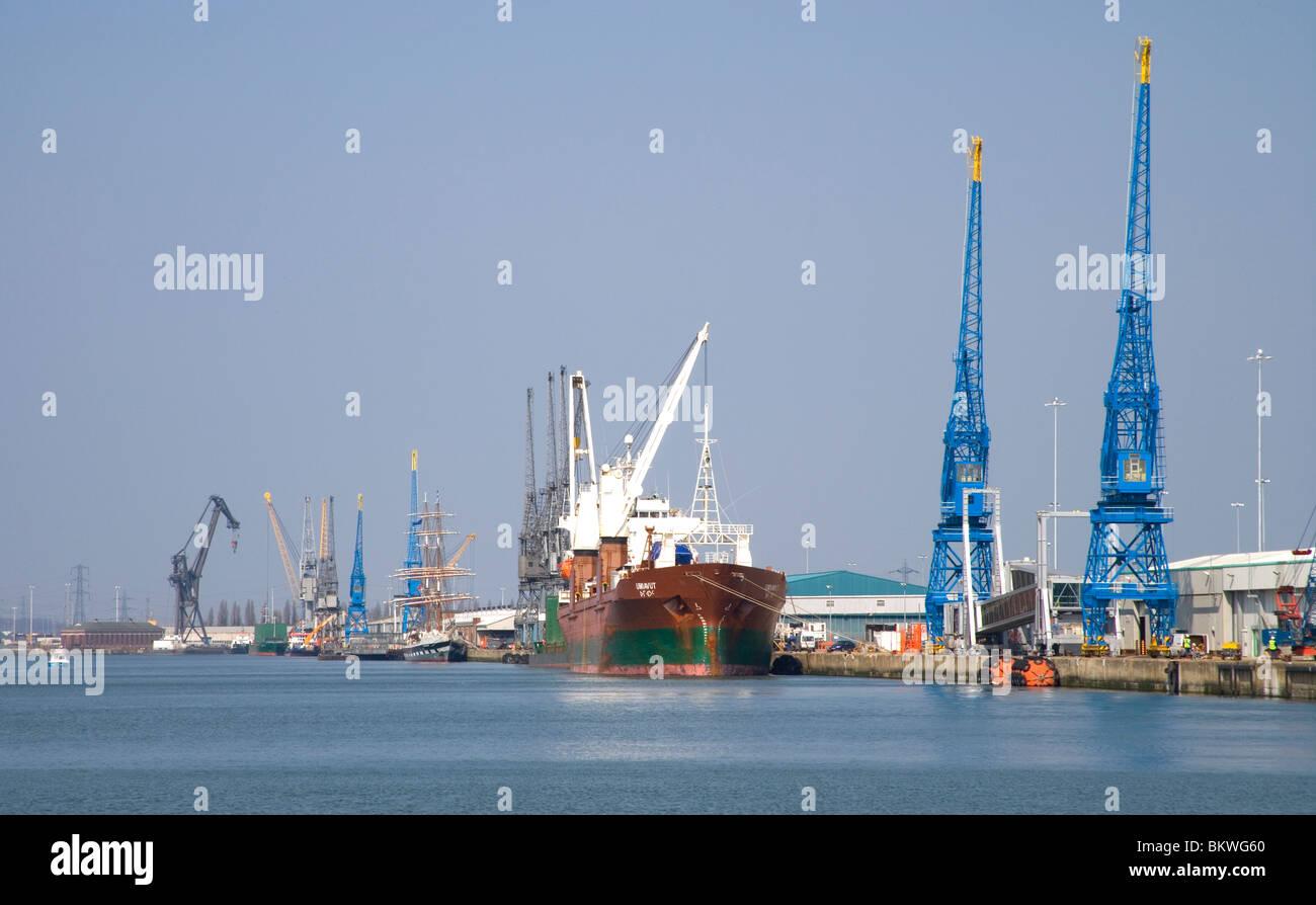 port of southampton Hampshire - Stock Image