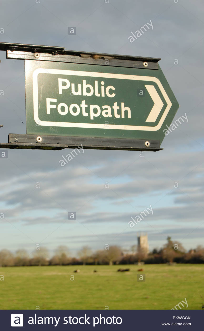 Moreton near Bourne Lincolnshire. Public footpath through the fens. - Stock Image