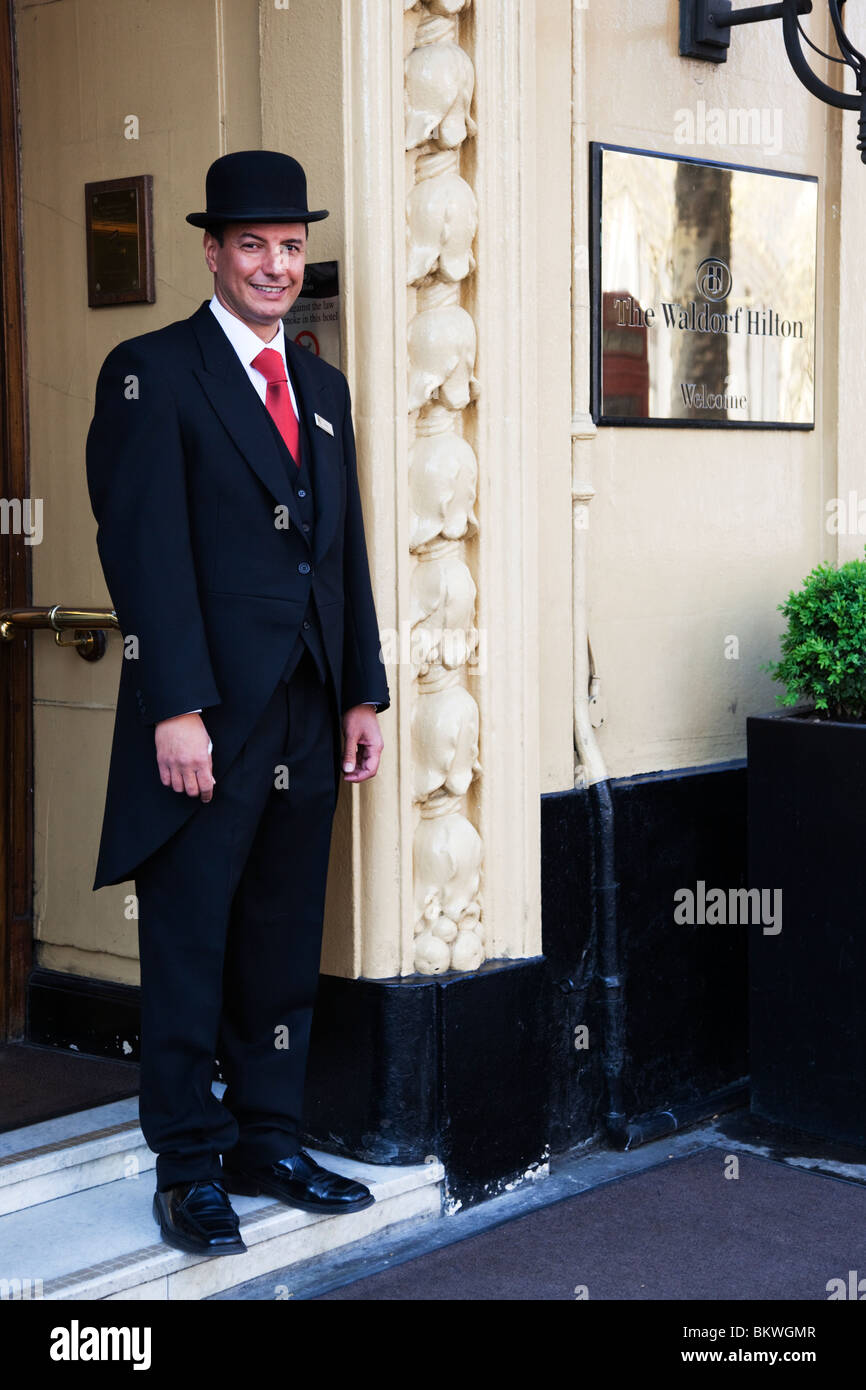 Doorman outside the Waldorf Hilton Hotel Aldwych London England United Kingdom -  sc 1 st  Alamy : savoy doorman - pezcame.com
