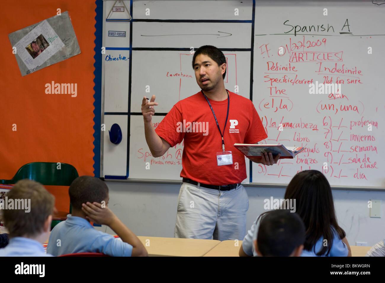 Asian american teacher