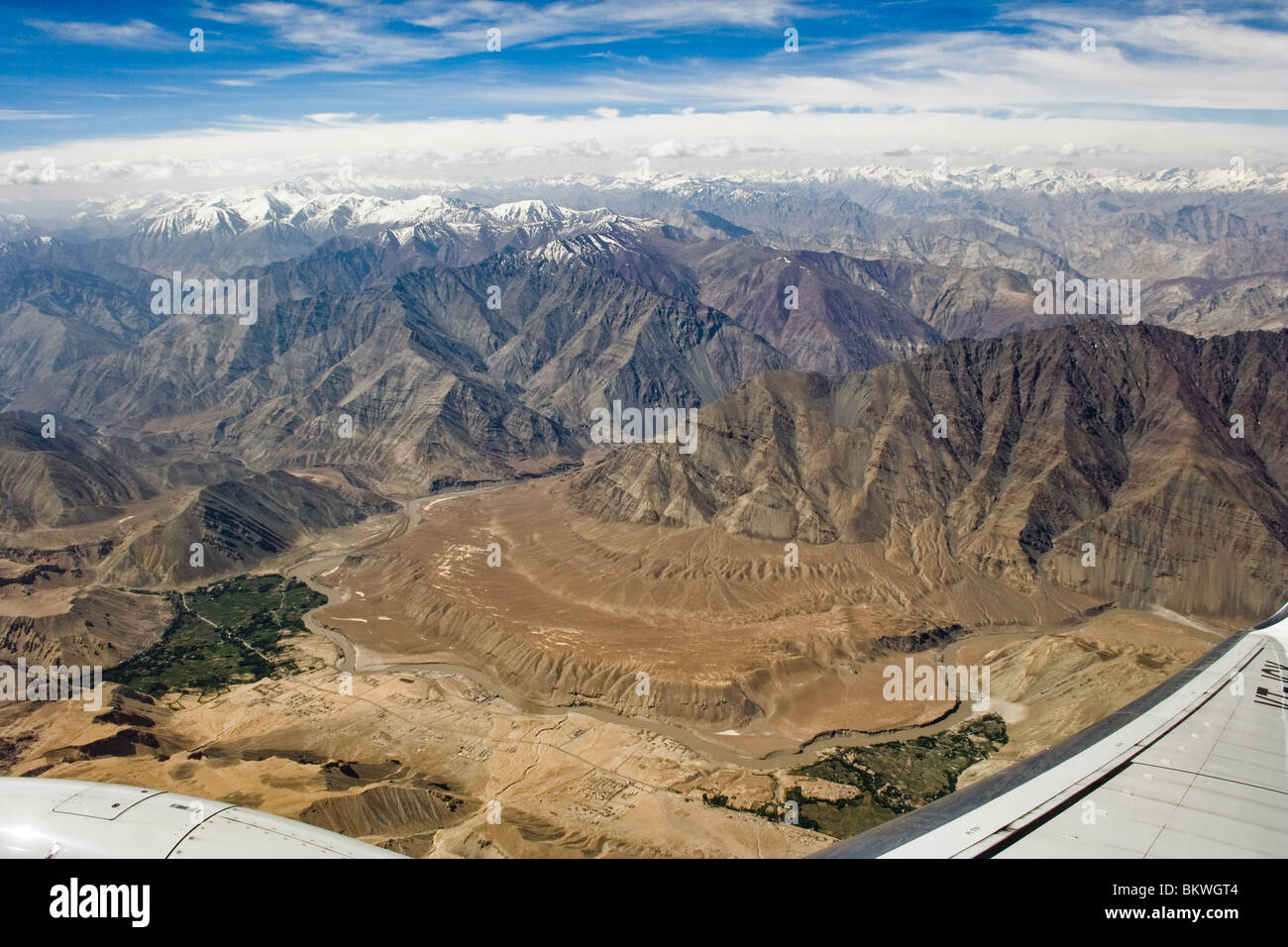 Aerial view of Himalaya - Stock Image