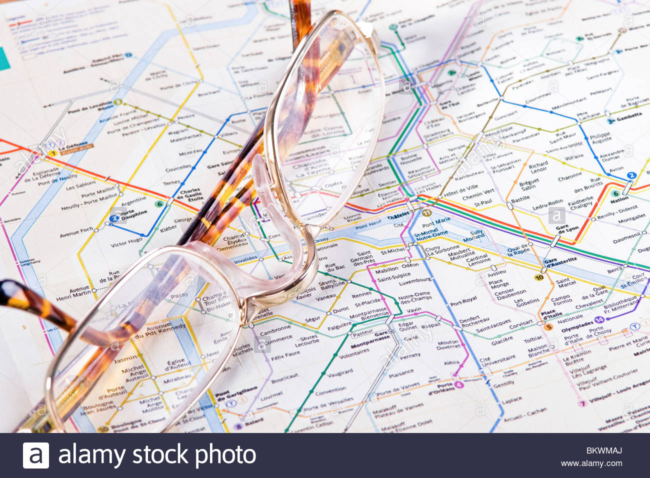 paris subway map stock image