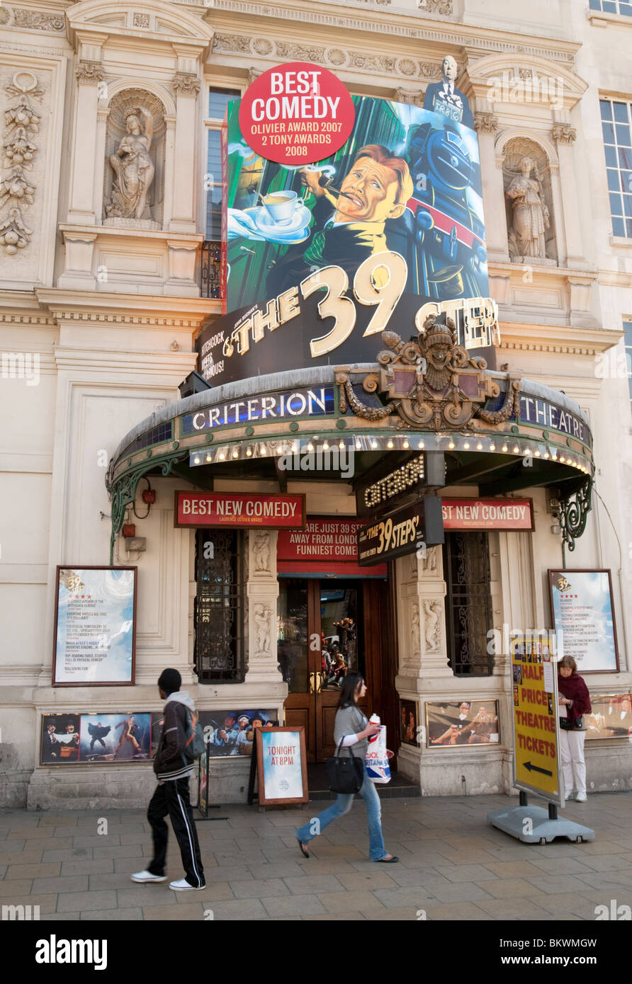 The Criterion theatre, Piccadilly Circus, West End, London, UK - Stock Image