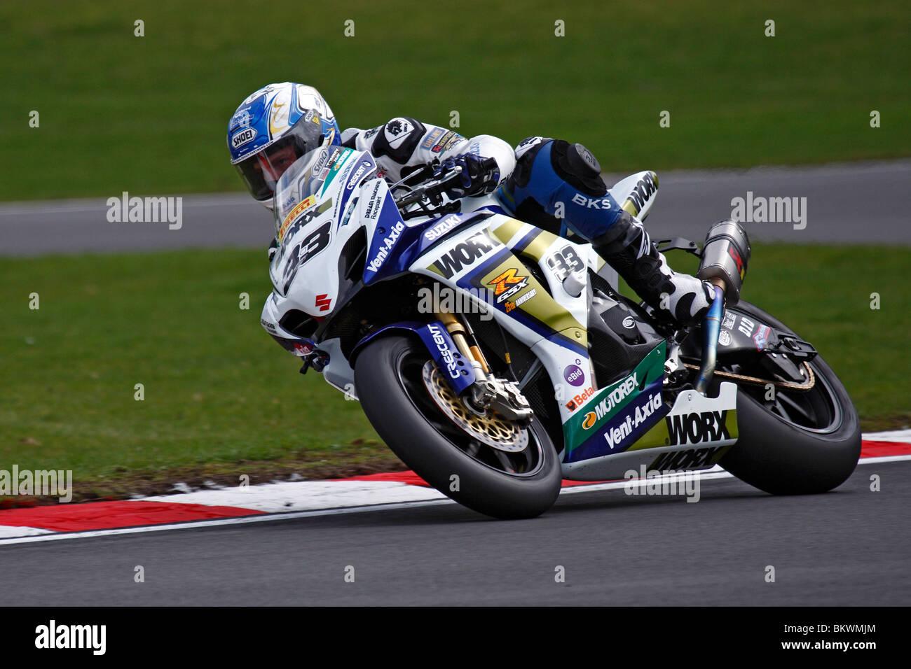 00629494 BSB British Superbikes, Tommy Hill riding a Worx Crescent Suzuki at Brands  Hatch 2010 -