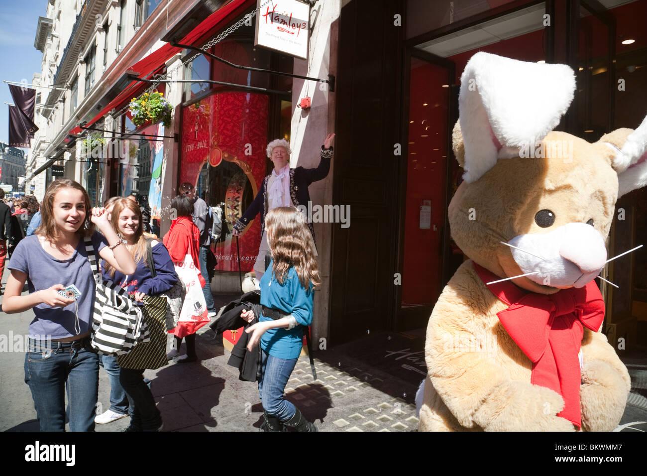 250th anniversary of Hamleys toystore, Regent Street, London UK Stock Photo