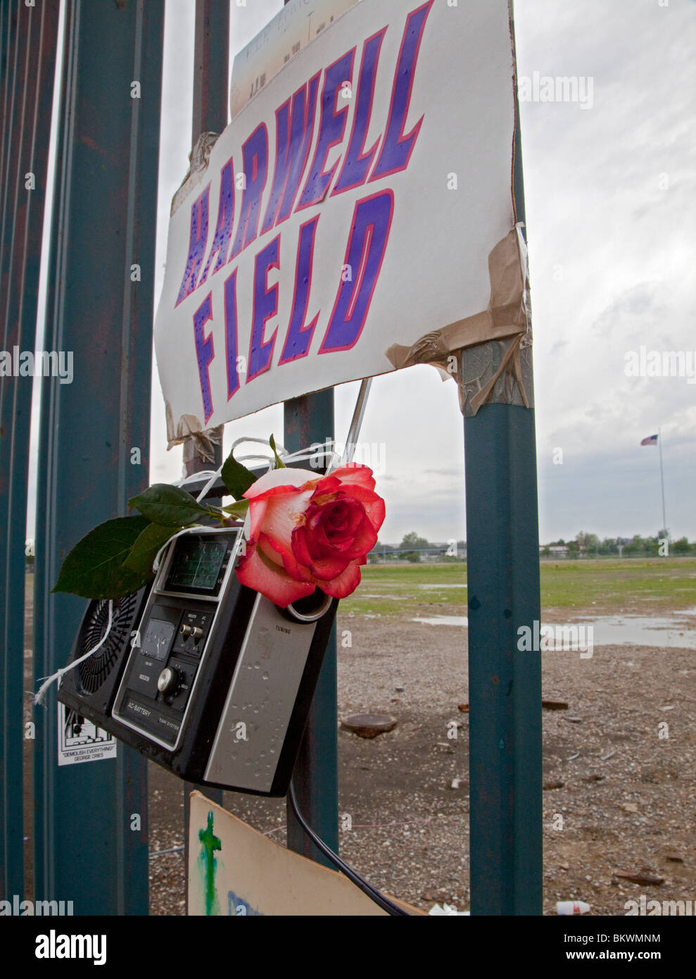 Memorial to Detroit Tigers Broadcaster Ernie Harwell - Stock Image