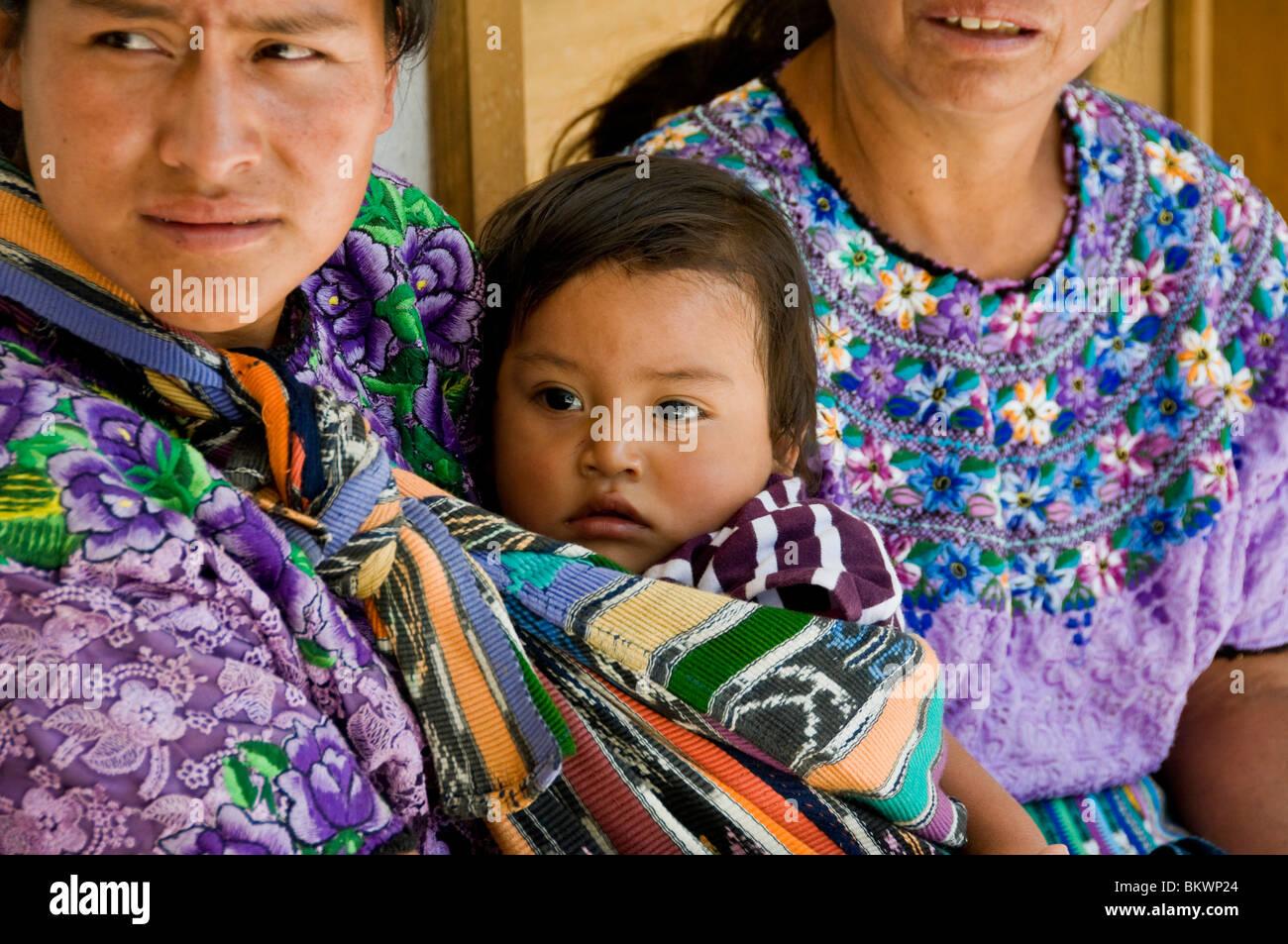 Mayan people Solola department Guatemala - Stock Image