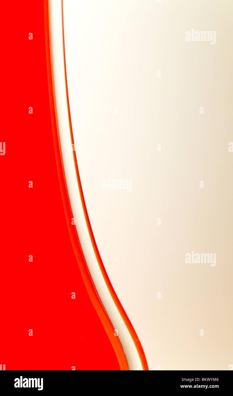 Close up detail of an orange glass vase Stock Photo