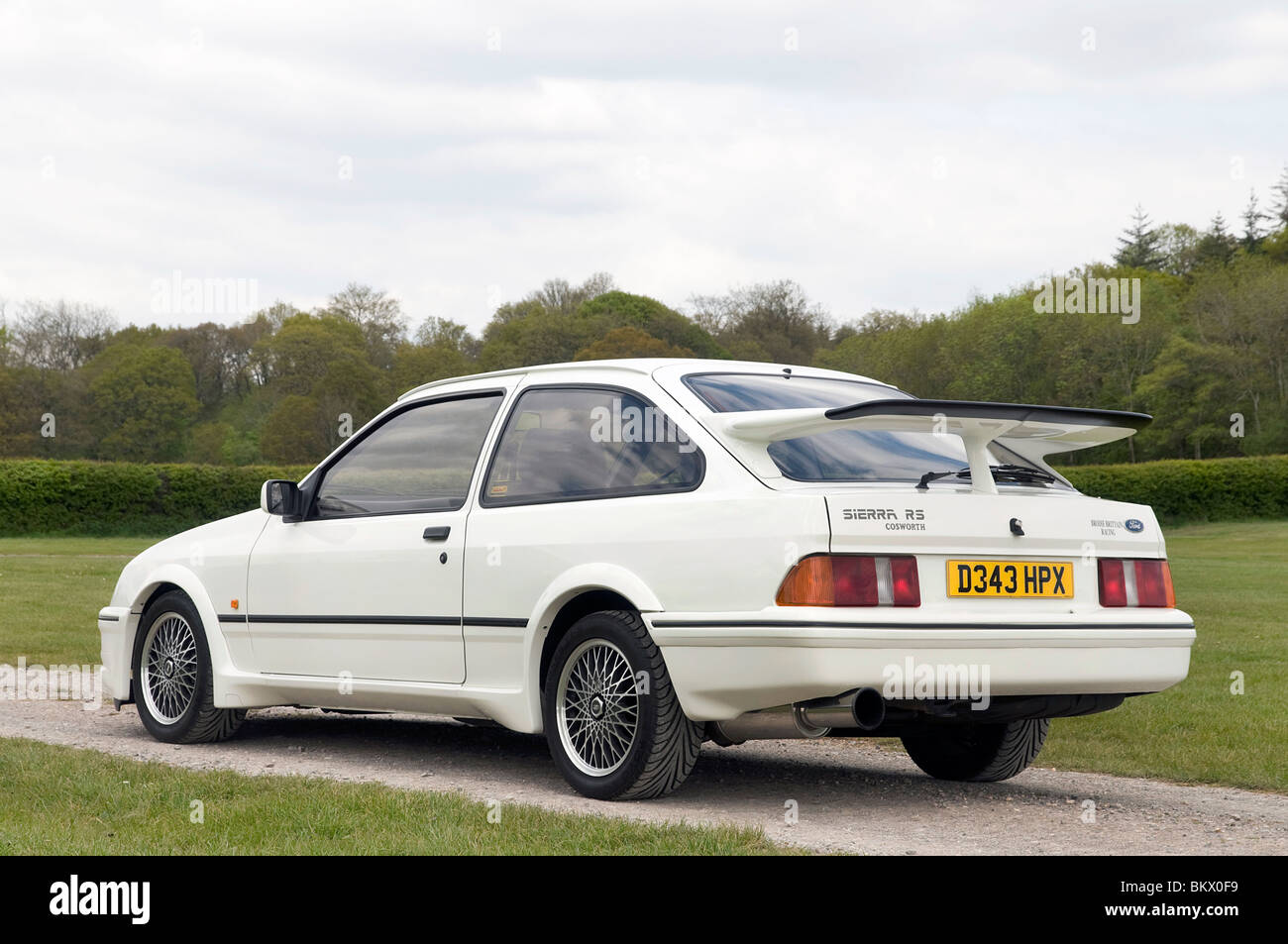 white ford sierra cosworth stock photos white ford. Black Bedroom Furniture Sets. Home Design Ideas