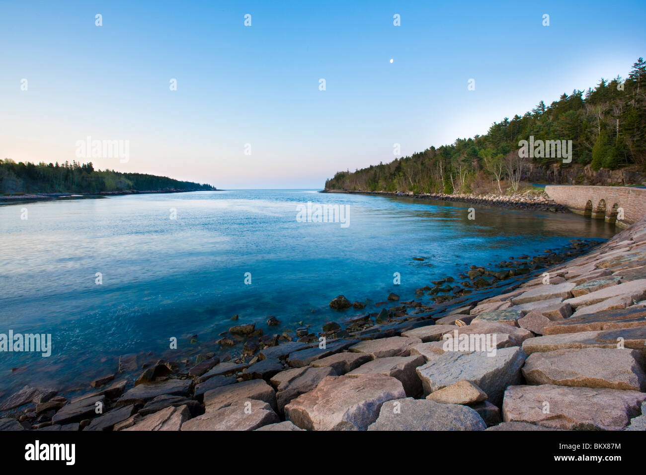 Otter Cove.  Park Loop Road. Acadia National Park, Maine. Stock Photo