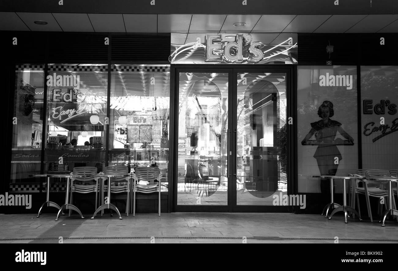 Eds Diner at Euston - London UK - Stock Image