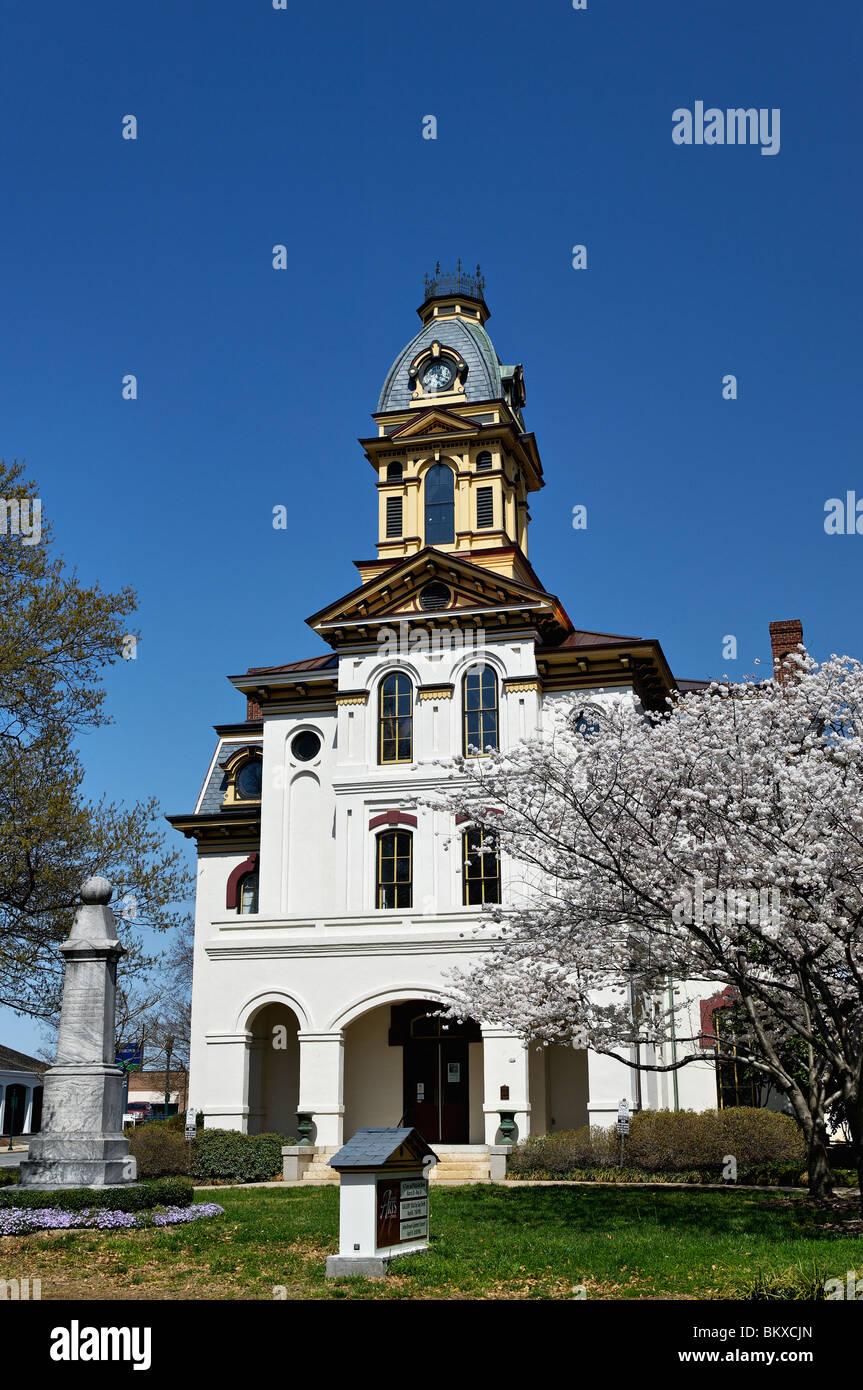 Cabarrus County Arts Council Building in Concord, North Carolina - Stock Image