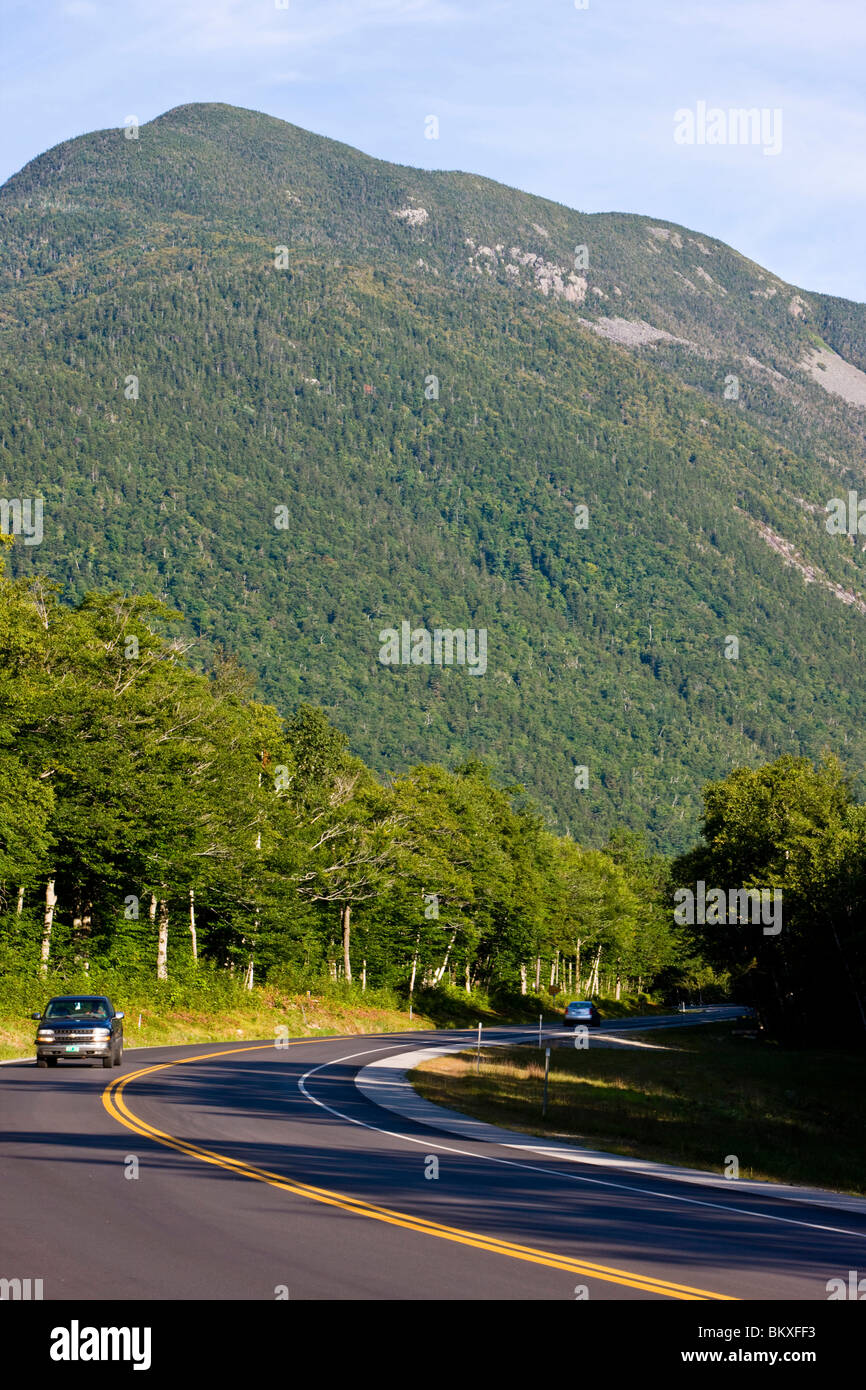 US 302 in New Hampshire's White Mountains.  Crawford Notch State Park. Stock Photo