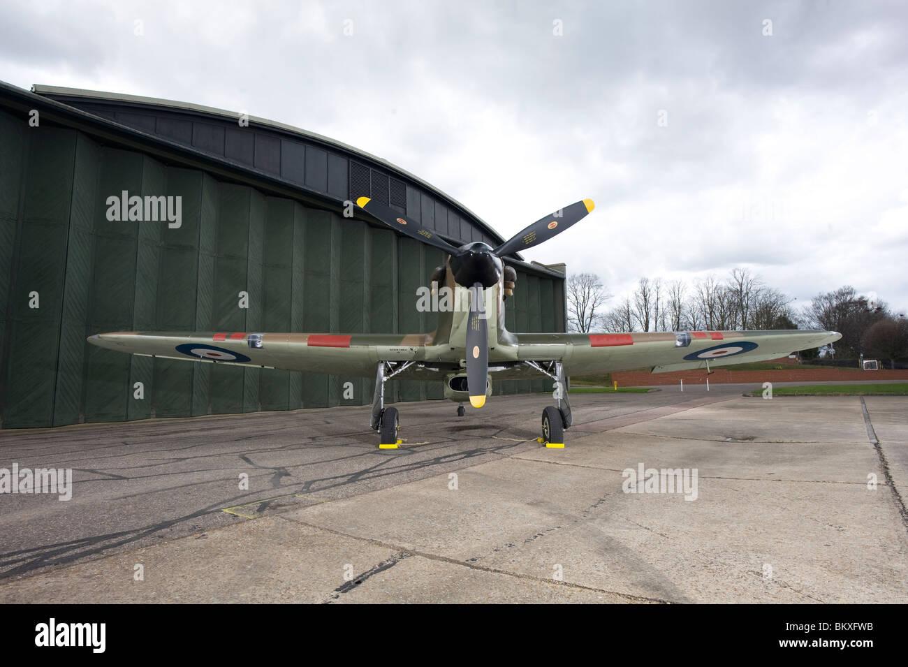 Hawker Hurricane British World War 2 fighter plane - Stock Image