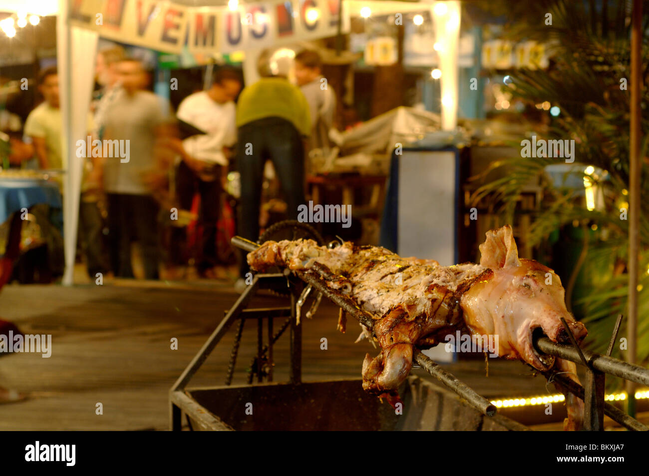 Non Veg Food being cook on Pattaya Street Pattaya Thailand ; South East Asia - Stock Image