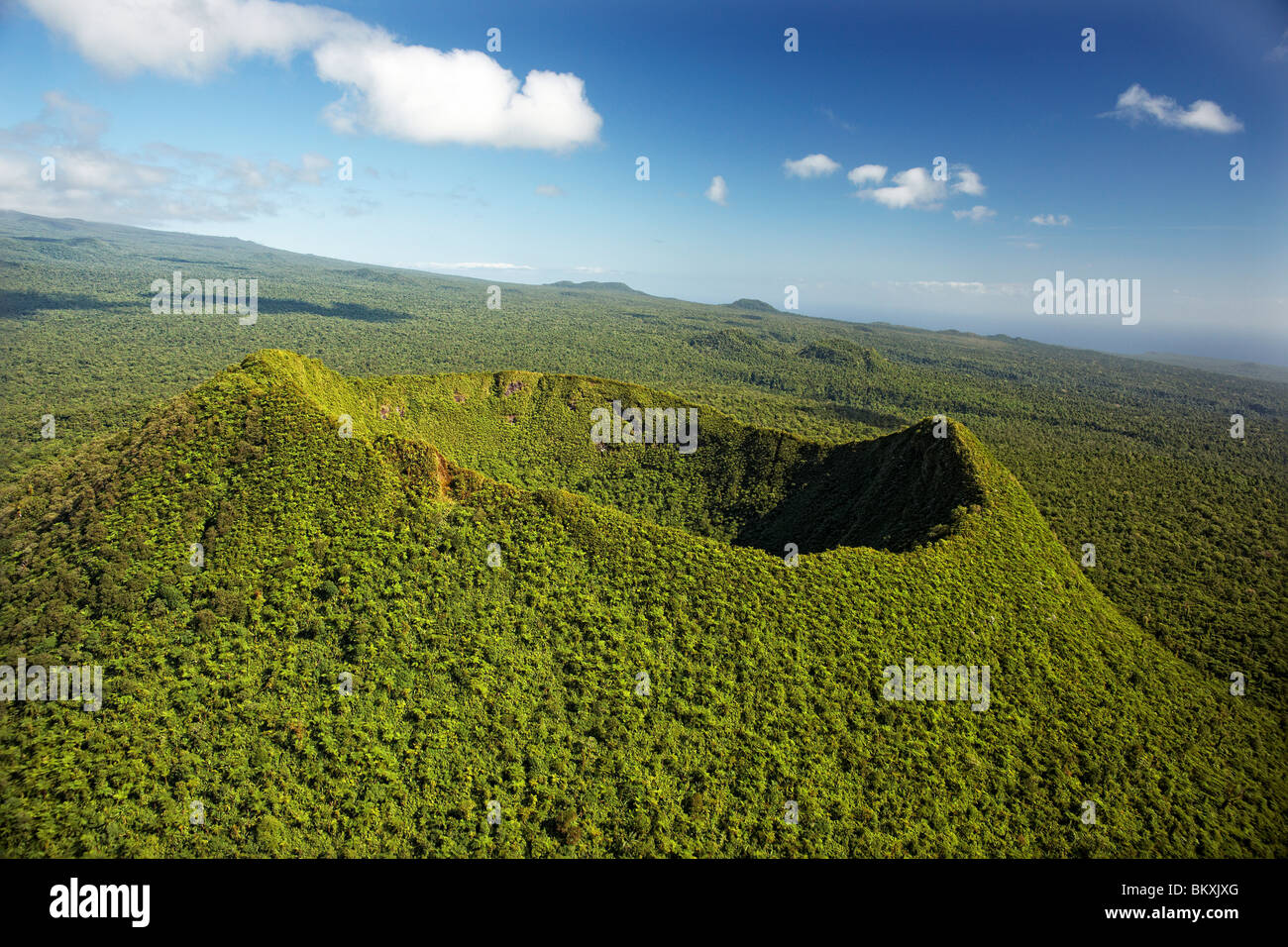 Aerial view of Mt To'iave'a, Savai'ii, Samoa - Stock Image