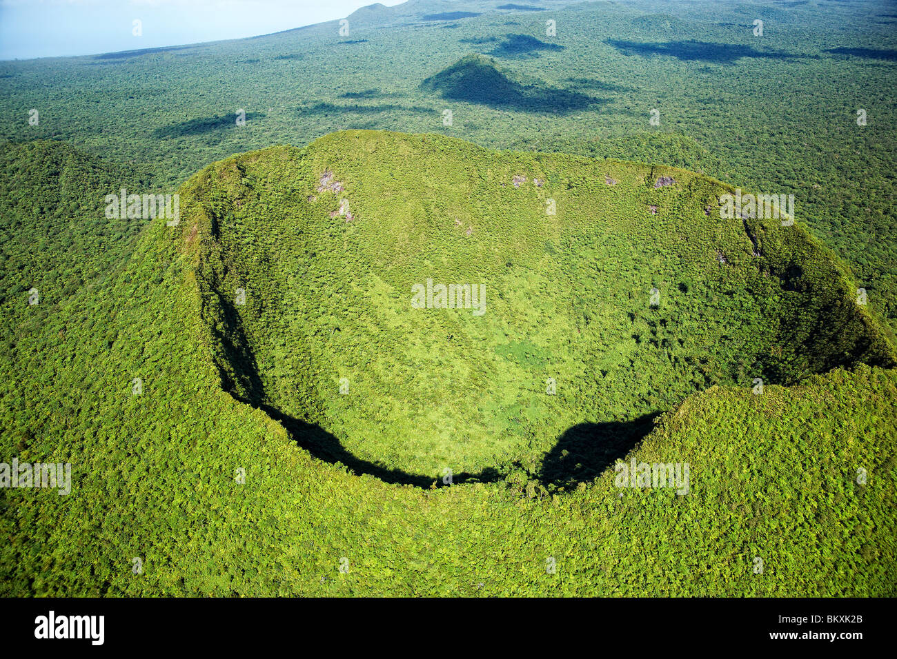 Aerial view of Mt To'iave'a, Savaii, Samoa - Stock Image