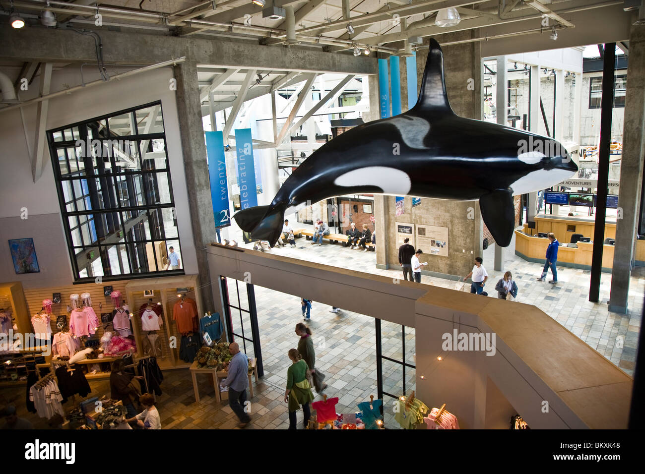 Monterey Bay Aquarium is home to more than 30,000 marine creatures birds mammals and plants - Stock Image