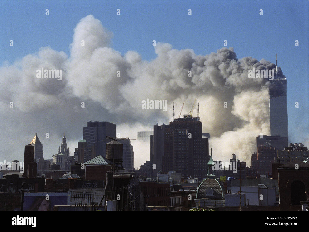 At  9:59 a.m, the south tower, 2 World Trade Center, collapsed after being hit by a plane. ©Stacy Walsh Rosenstock/Alamy - Stock Image
