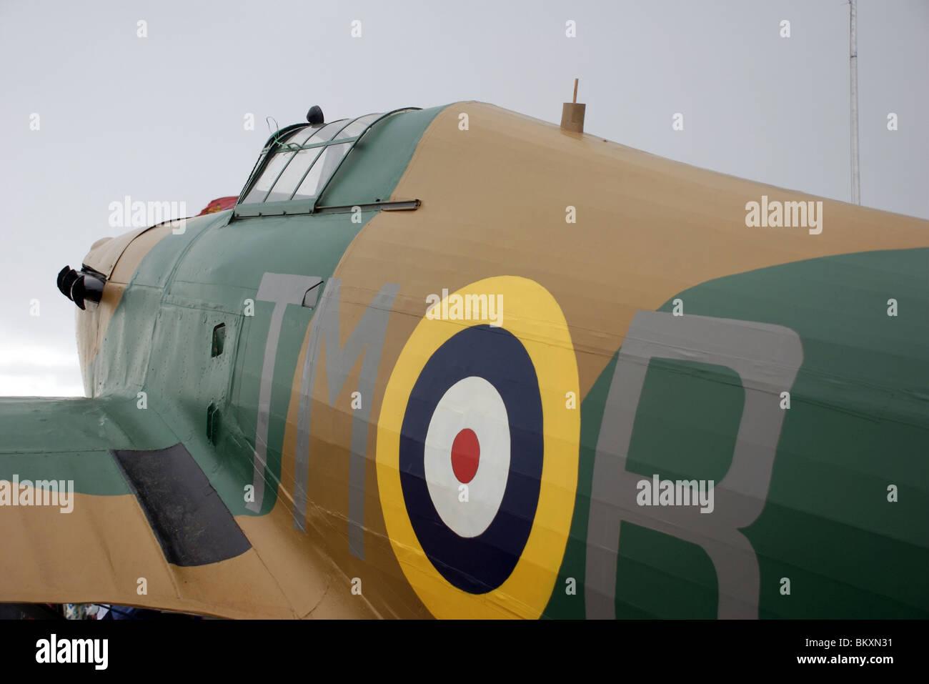 WW2 Hurricane fighter plane replica from the 1968 Battle of Britain film, Plymouth, Devon, UK - Stock Image